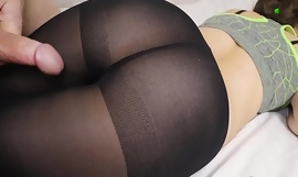 Cumshot on With an eye to Pantyhose Pain in the neck - SanyAny
